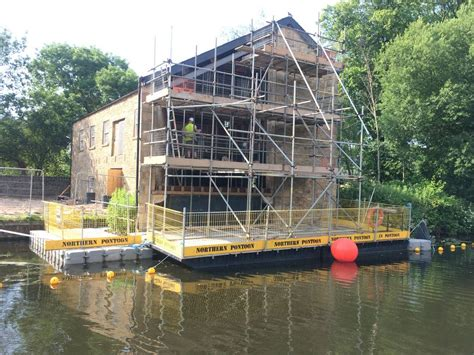 Pontoon Hire Uk by Commercial Floating Scaffold Pontoon Hire For Works Access