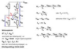 Transistor Als Schalter Berechnen : transistor emitterschaltung arbeitsweise der strom und spannungsgegenkopplung ~ Themetempest.com Abrechnung