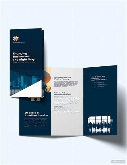 Template Brochure Company Fold Tri Pdf Publisher