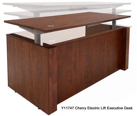 adjustable height office desk adjustable height executive office desk in cherry