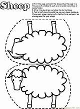 Coloring Pages Sheep Lost Printable Popular sketch template