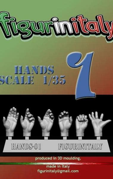 Hands Set No 1 135 Scale Figurinitaly El Greco
