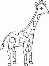 Giraffes sketch template