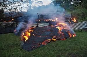 Lava Flow Enters Pahoa