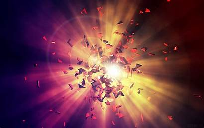 Explosion Energy Background Wallpapers 4k Shards Abstract