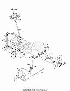 Troy Bilt 13yx79kt011 Horse Xp  2014  Parts Diagram For Front End Steering