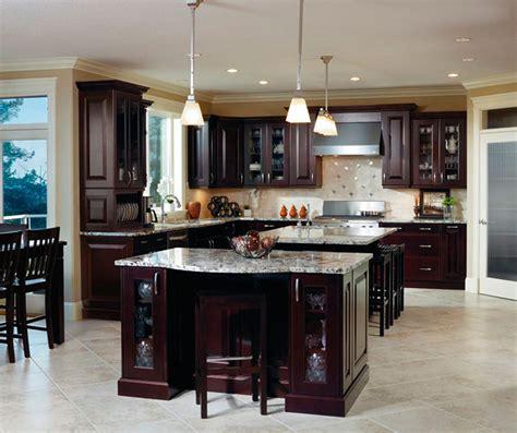 traditional espresso kitchen cabinets kitchen craft
