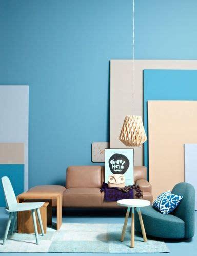 Frische Wanddekoration Mit Pflanzengreen Wall Plant Decor 2 by Wohnen Mit Farben Einrichten Mit Blau W 228 Nde Blaue