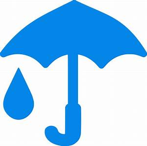 Clipart - Blue Umbrella And Raindrop icon