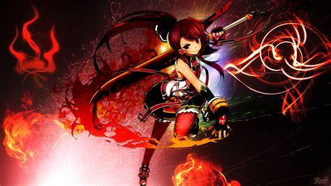 anime hd wallpaper deviantart elsword elesis wallpaper hd by robbo4 on deviantart
