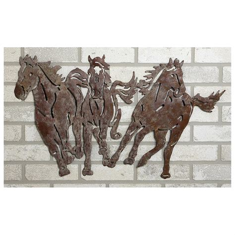 Find new wall art for your home at joss & main. River of Goods® Wild Horses Metal Wall Art - 581832, Decorative Accessories at Sportsman's Guide