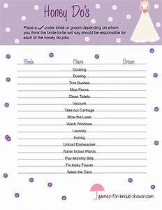 Free printable honey do39s game for bridal shower for Games to play at wedding shower