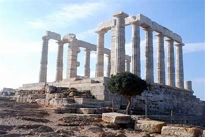 Poseidon Temple Pillar Ancient Ruin Greece Athens