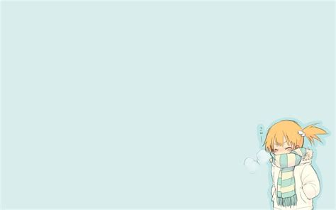 anime girls simple background white background redhead