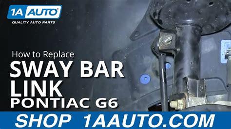 replace sway bar link   pontiac  youtube