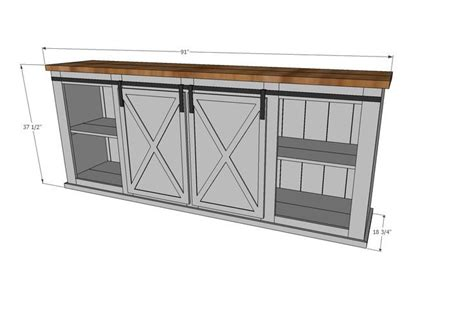 rustik 2x4 dimensions grandy sliding door console white diy home decor barn door console diy furniture
