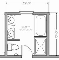bathroom floor plan Small Bathroom Floor Plans with both tub and shower | Blueprint view Napoleon Master Bath ...