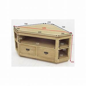 Meuble Angle Bois : meuble tv d 39 angle exotique ~ Edinachiropracticcenter.com Idées de Décoration