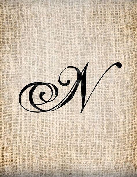 antique letter  script monogram digital