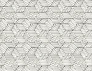 Intertwined Gray Geometric Wallpaper