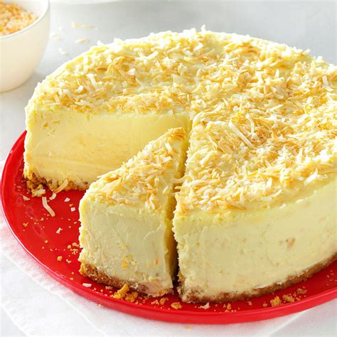 cheesecake recipe coconut white chocolate cheesecake recipe taste of home