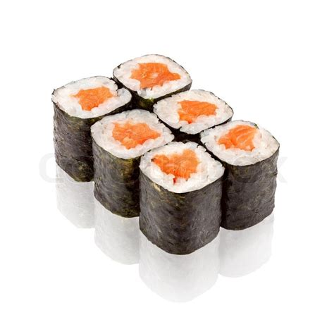 siege social sushi shop japanese cuisine salmon maki sushi stock photo colourbox