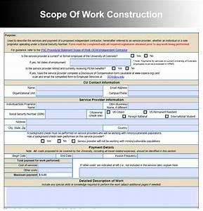 construction project scope of work for pictures to pin on With it project scope of work template