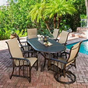 Aruba 7 piece sling patio dining set welcome to costco for Patio dining set costco