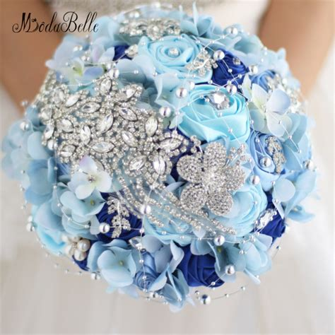 Luxury Crystal Wedding Bouquets With Diamonds Brooch