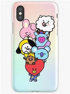 """""""BT21"""" iPhone Cases & Skins by sandovalnessy Redbubble"""