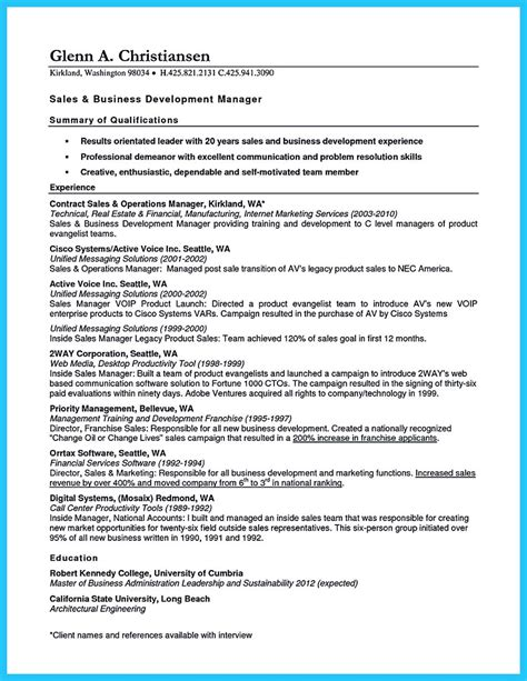 International Business Development Resume Sle by Marvelous Things To Write Best Business Development Manager Resume