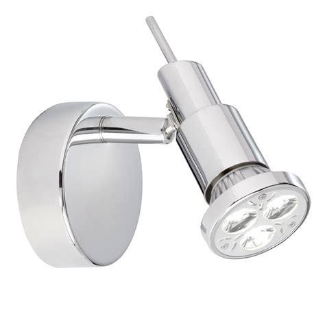 torch led chrome wall spotlight with circular back plate astral lighting ltd