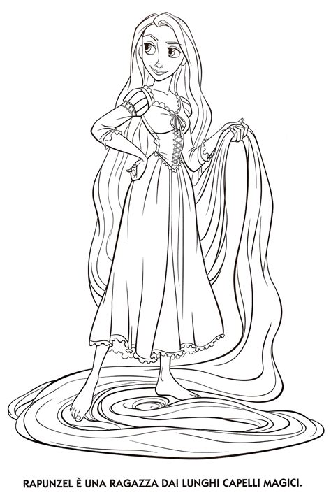 Coloring Rapunzel by Simple Rapunzel Princess Coloring Pages Coloring Pages