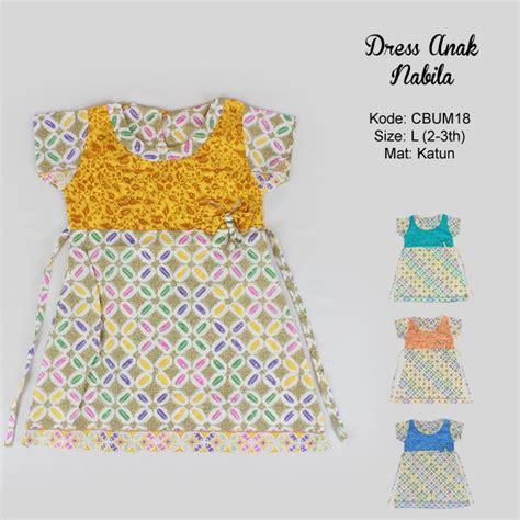dress anak nabila motif kawung warna dress murah