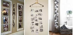 Accrocher Photos Au Mur Sans Abimer : 70 id es de d co pour organiser vos photos et cadres sur ~ Zukunftsfamilie.com Idées de Décoration