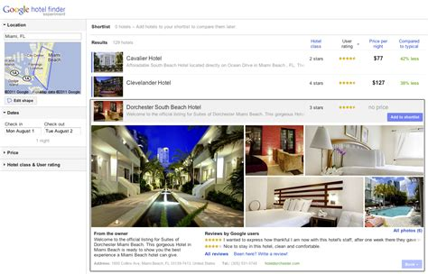 google launches hotel finder a new search tool tnw google