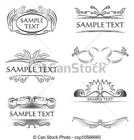 Decorazione Cornici Cornici Decorazioni Stile Set Creato Calligraphic