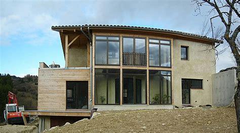maison d architecte 224 ossature bois en paille 224 saillans dans la dr 244 me os 233 bois