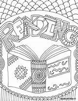 Coloring Pages Reading Subject Doodle Books Library Elementary Alley Binder Sheet Folder Sheets Grade Subjects Mediafire 4th sketch template
