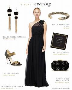 black evening gown for a wedding With black dress evening wedding