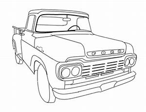 old ford trucks colouring pages az coloring pages With 1960 ford f100 4x4