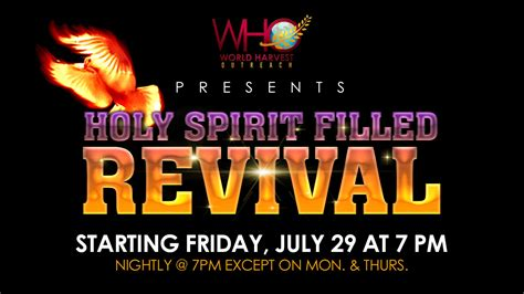 holy spirit filled revival world harvest outreach sda church