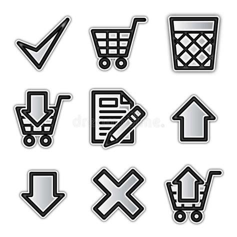 Iconos Del Departamento Del Web Ilustración del Vector