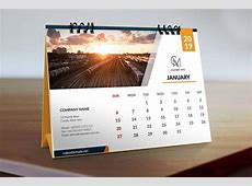 Trevor Free Simple Clean Desk Calendar Design Template