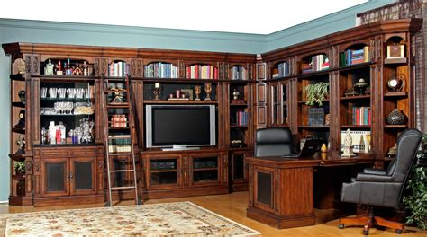 Parker House Leonardo Library Wall Unit Bookcase Set 1 Ph