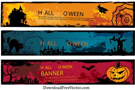 Download icon font or svg. Free Halloween Banners Vector