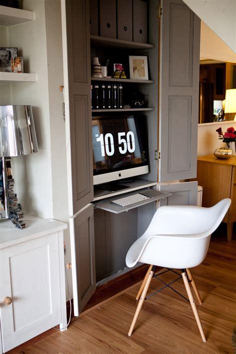 bureau dans armoire gain de place créez votre bureau dans une armoire
