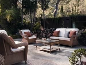 Salon Jardin Rotin : table basse de jardin en r sine tress e brin d 39 ouest ~ Melissatoandfro.com Idées de Décoration