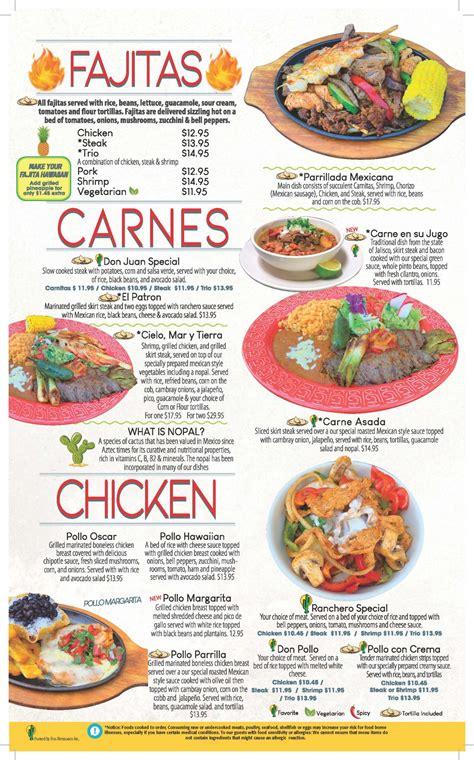 Menu | El Vallarta | Mexican Restaurant