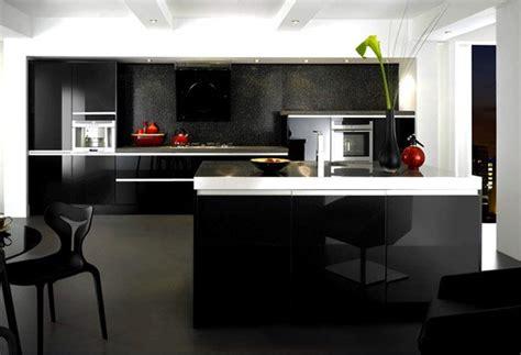 black  gray high gloss kitchen designs home design